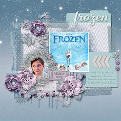 Frozen3D-using the new fuss free template #78 @ scrap Orchard's blog