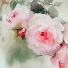 One of my favorite part. :-) #watercolor #art #paint #painting #rose #roses #flower #sweet