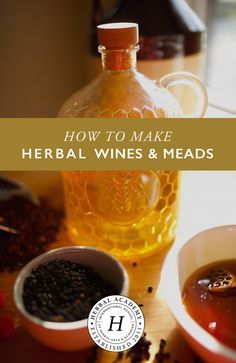How To Make Herbal Homemade Wines and Meads Herbal Academy Homemade herbal wines and meades have been around for centuries Learn how to make them in your own kitchen Homemade Wine Recipes, Homemade Alcohol, Homemade Liquor, Mead Wine, How To Make Mead, Mead Recipe, Make Your Own Wine, How To Make Wine, In Vino Veritas