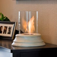 Real Flame Mediterranean Sandstone Personal Gel Fuel Fireplace $65