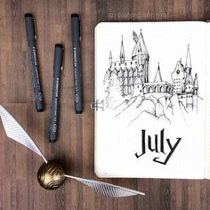 Hello, July! In honour of Harry's birthday month, it's gonna be a very magical set of spreads for these next four and a half weeks ⚡️ #Regram via @chardangerfield.art)