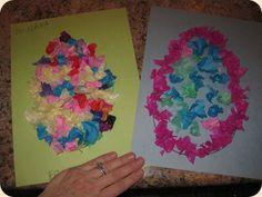 Tissue Paper Easter Egg Craft {confessionsofahomeschooler}