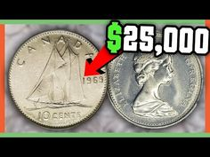 These Canadian Coins can be found in your pocket change! We will look at the Top 10 Most Valuable Canadian Pennies that could be out in circulation today! Canadian Penny, Canadian Coins, Valuable Pennies, Valuable Coins, Old Coins Worth Money, Old Money, Coin Books, Penny Coin, Coin Worth