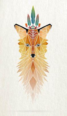 fox spirit by Manoou, via Behance