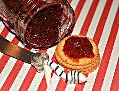 strawberry jam packed with the sweetness of fresh picked berries. perfect for peanut butter and jelly Homemade Strawberry Jam, Homemade Jelly, Strawberry Jelly, Homemade Sauce, Dessert Sauces, Desserts, Jam And Jelly, Mousse, Food To Make