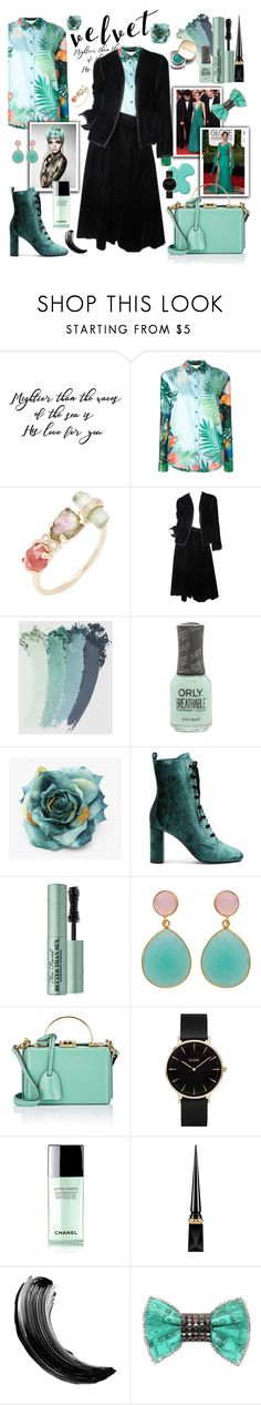 """This Great Velvet!"" by j477 ❤ liked on Polyvore featuring Rochas, Jacquie Aiche, Oscar de la Renta, Gucci, Yves Saint Laurent, Too Faced Cosmetics, Carousel Jewels, Lanvin, Dolce&Gabbana and Mark Cross"