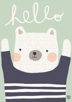 Psikhouvanjo - Poster Polarbear Hello