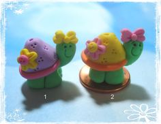 Turtle Polymer Clay Charm Bead Scrapbooking by rainbowdayhappy, $2.75