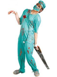 Disfraz de zombie cirujano de quirófano para hombre y para mujer