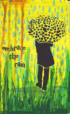 NatashaMay Art World: April 2013 StencilGirl stencil by Jessica Sporn would like to just use the shilouttte of the girl and the umbrella Art Journal Prompts, Art Journal Techniques, Art Journal Pages, Art Journals, Journal Ideas, Stencil Art, Stencils, Encaustic Painting, Acrylic Paintings