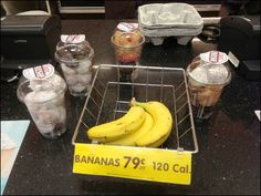 Banana Basket at Cashwrap Offers Side Order of Donuts Side Orders, Retail Merchandising, Wire Baskets, Donuts, Signage, Side Dishes, Banana, Fruit, Health