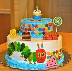 Hungry caterpillar cake.
