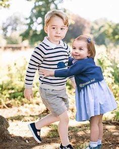 Princess Charlotte Elizabeth Diana and Prince George Lady Diana, Prince William Family, Prince William And Catherine, Princess Diana Family, Prince And Princess, Kate Middleton Family, English Royal Family, British Family, Prince George Alexander Louis