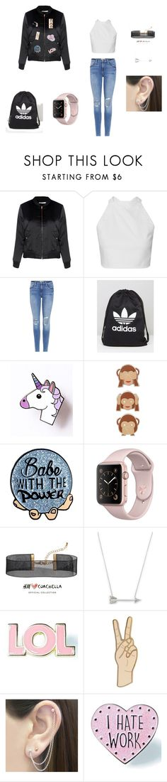 """""""Love ❤️❤️❤️👌🏼🍉"""" by nath-metzger ❤ liked on Polyvore featuring Glamorous, Frame, adidas, PINTRILL, H&M, Estella Bartlett, Valley Cruise Press, Lucky Brand, Otis Jaxon and Skinnydip"""