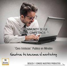 """No estés triste! """"En Miradas nos encargamos del marketing"""" Publica tu marca con el contenido más interesante y creativo. Visita miradas.com.ve y conoce las opciones para promocionar tu marca.  #MiradasMagazine #MiradasRadio #MiradaFotografica #RutaGourmet #RutaGourmetMiradas #Miradas #Anzoategui #Mochima #Lecheria #Turismo #Gastronomia #Arte #Mercadeo #Tecnologia #Marketing #Negocios"""