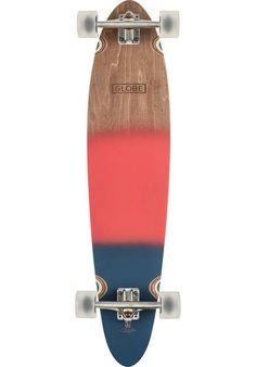 Globe Pinner Classic Longboard Komplett Wood Red Navy | Titus Onlineshop  Globe Longboard