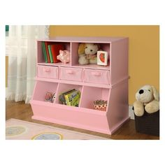 Shop for Badger Basket Shelf Storage Cubby with Removable Baskets. Get free delivery On EVERYTHING* Overstock - Your Online Baby Furniture Shop! Modular Storage, Cubby Storage, Cubbies, Girl Room, Girls Bedroom, Child Room, Stackable Shelves, Storing Books, Organizing Books