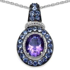 Wow!   Take a look at the new arrivals!  http://www.joyoflondonjewels.com/products/a-natural-2ct-oval-cut-plum-amethyst-and-tanzanite-pendant?utm_campaign=social_autopilot&utm_source=pin&utm_medium=pin