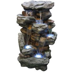 Found it at Wayfair - Resin/Fiberglass and Stone Rainforest Waterfall Fountain with LED Light