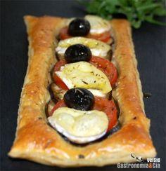 Hojaldre Mediterráneo Empanadas, Vegetable Pizza, Catering, Sushi, Brick, Cooking Vegetables, Ethnic Recipes, Desserts, Food