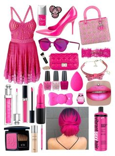 """Pink Dior 💝"" by lilyalicewalker ❤ liked on Polyvore featuring Christian Dior, MAC Cosmetics, OPI, Urban Decay, beautyblender and Victoria's Secret"