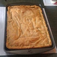 Homemade Macedonian pie made by yours truly. Filling: sour cabbage and feta cheese from fastpakstore.com