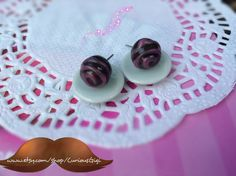 Chocolate truffle earrings collectible mini sweets by CuriousGigi, $10.00 .  Custom orders are welcome !  www.etsy.com/shop/CuriousGigi