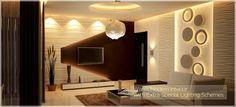 Warm Modern Interior With Extra Spcial Lighting Schemes. For more; http://www.monnaieinteriors.com/ #architecture #interior #designer