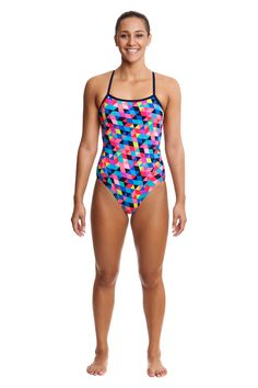 c8af1b64841 Funkita Women s Colour Card Single Strap Swimsuit Keep Swimming