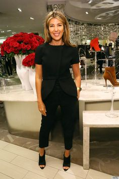 And this one! Damn, Nina! - Nina Garcia in Balenciaga. I am not typically a huge fan of Balenciaga, but I LOVE this jacket.