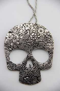SUPER SALE Vintage Handmade Sugar Skull Candy Skull by Steelogy, $9.99