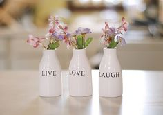 I have these vases. Can't wait to finish my basement so I can put them up!