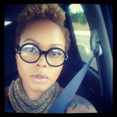 chrisette-michele love her eye glass game #style