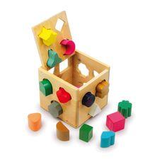 Een kleurrijke geometrie-puzzel voor het oefenen van de fijne motoriek en de herkenning van vormen.