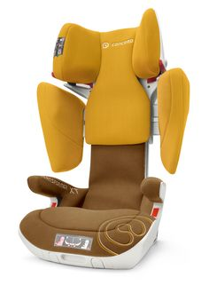 TRANSFORMER XT Group: II/III / Age: 3 up to 12 years / Weight of child: 15 up to 36kg Closed shell shape for seamless side-impact protection; all main functions, including the seat and recliner angle, adjustable at the touch of a button by means of a pneumatic spring.