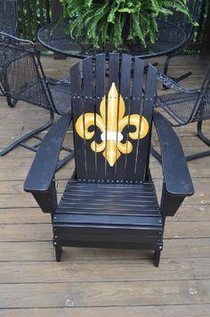 Hand painted Adirondack chairs.#fleur de lis