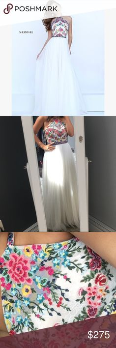 Sherri Hill Prom Dress Only worn once, great condition, Sherri Hill embroidered prom dress. Size 8 Sherri Hill Dresses Prom