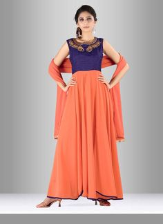 Be the sunshine of everybody's eyes dressed in such a attractive georgette and…