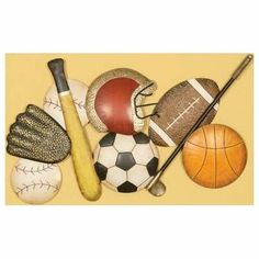 Sports Collage Wall Art by PASSPORT ACCENT FURNITURE. $49.99. The Sports Collage Wall Art is the perfect score for a kid's room. The sports minded metal wall decal features a collage of sports items that will inspire kids to go out and play ball. Metal wall art Colors will match any decor .