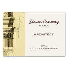 168 Best Architects Business Cards Images In 2019 Lyrics Texts