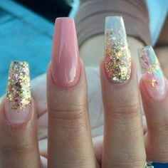 Ombre Glitter Nails Designs to Make Your Look Shiny ★ See more: https://naildesignsjournal.com/ombre-glitter-nails-designs/ #nails