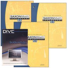Saxon Math 5/4 3ED + DIVE CD-ROMs