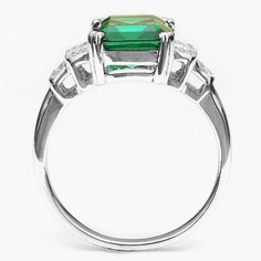High Quality 3ct Nano Russian Emerald Ring Only $29.99 => Save up to 60% and Free Shipping => Order Now! #Bracelets #Mystic Topaz #Earrings #Clip Earrings #Emerald #Necklaces #Rings #Stud Earrings