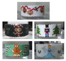 Christmas Tea Light Cover Pattern Collection 1 by Diane Masters AKA Phoenix Wolf Creations at Bead-Patterns.com