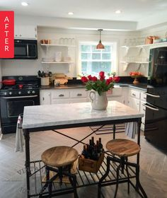 Before & After: Lumberjack Kitchen Gets Farmhouse Makeover — Hometalk | Apartment Therapy