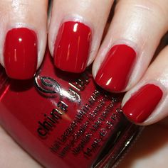"China Glaze ""City Siren"" - practically perfect red!"