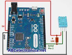Sensores DHT11 y 22 + Arduino: temperatura y humedad.