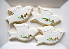 Christmas Dove Cookies