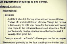 We, as equestrians, deserve a different school schedule. Especially during show season!