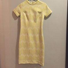 Vintage yellow and white dress Like new Vintage Dresses